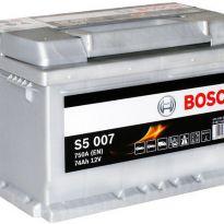 0092S50070 Аккумулятор 74Ah-12v BOSCH (S5007) (278x175x175),R,EN750