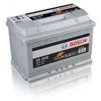 0092S50080 Аккумулятор 77Ah-12v BOSCH (S5008) (278x175x190),R,EN780