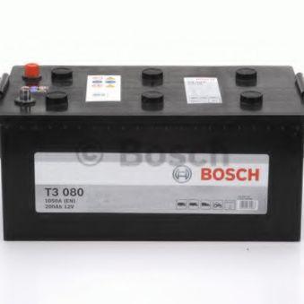 0092T30800 Аккумулятор 200Ah-12v BOSCH (T3080) (518x276x242),полярность обратная (3),EN1050. Фото 1