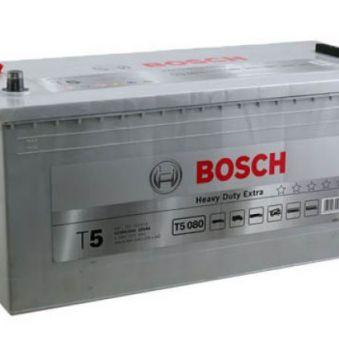 0092T50800 Аккумулятор 225Ah-12v BOSCH (T5080) (518x276x242),полярность обратная (3),EN1150. Фото 1