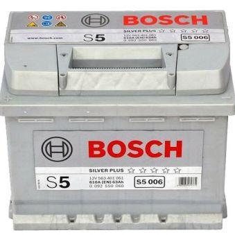 0092S50060 Аккумулятор 63Ah-12v BOSCH (S5006) (242x175x190),L,EN610. Фото 1