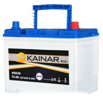 070 341 1 110 Аккумулятор 75Ah-12v KAINAR Asia (258x173x220),L,EN640. Фото 1