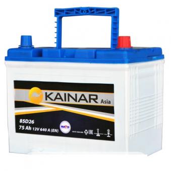070 341 0 110 Аккумулятор 75Ah-12v KAINAR Asia (258x173x220),R,EN640. Фото 1