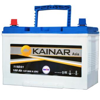090 341 0 110 Аккумулятор 100Ah-12v KAINAR Asia (304x173x220),R,EN800. Фото 1