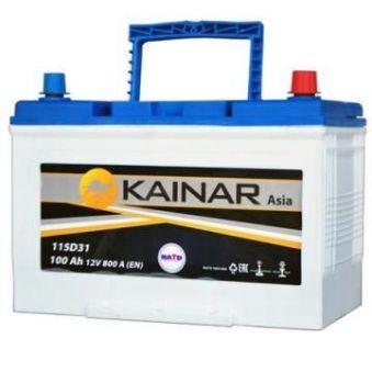 090 341 1 110 Аккумулятор 100Ah-12v KAINAR Asia (304x173x220),L,EN800. Фото 1