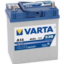 540 126 033 Аккумулятор 40Ah-12v VARTA BD(A14) (187х127х227),R,EN330 тонк.клеммы