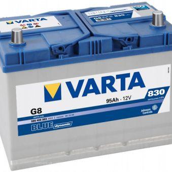 595 405 083 Аккумулятор 95Ah-12v VARTA BD(G8) (306х173х225),L,EN830 Азия. Фото 1